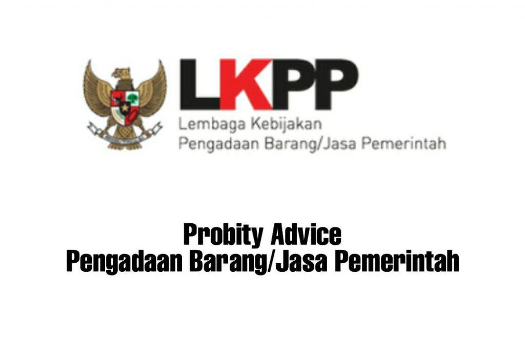 Probity Advice Pengadaan Barang/Jasa Pemerintah